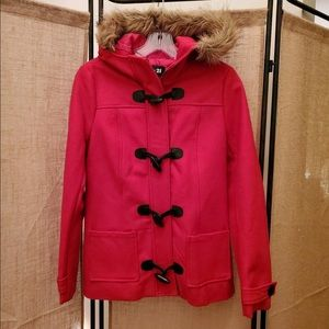 Forever 21 Wool Coat with Fur Hood